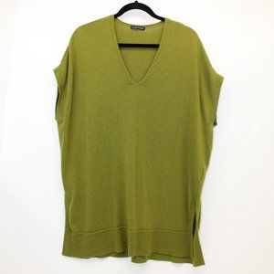 EILEEN FISHER Olive Wool Cap Sleeve Tunic